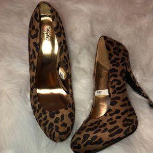 Cheetah / Leopard Platform Heels